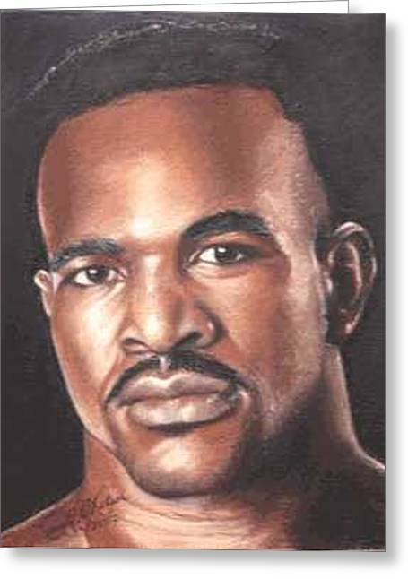The Real Deal - Evander Holyfield Greeting Card by Kenneth Kelsoe