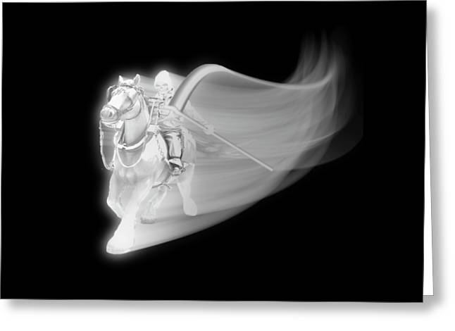 The Reaper Rides Again Greeting Card by Gravityx9 Designs