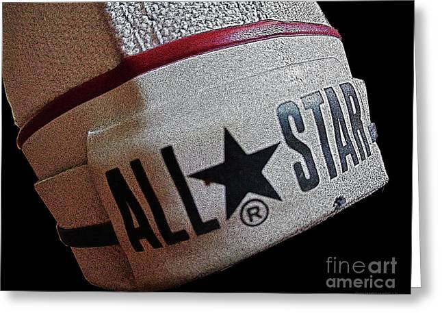 The Converse All Star Rear Label. Greeting Card