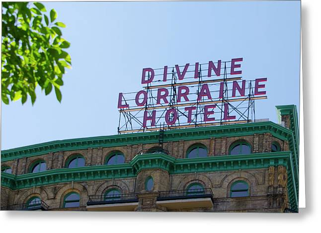 The Rebirth Of The Devine Lorraine Hotel Greeting Card by Bill Cannon