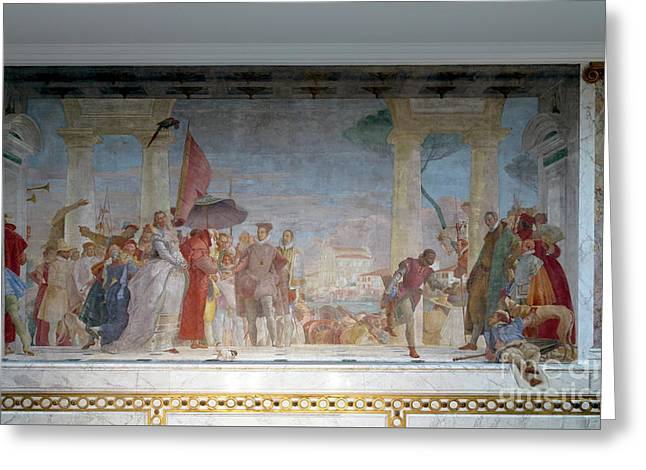The Reception Of Henry IIi At The Villa Contarini, By Giambattis Greeting Card by Peter Barritt