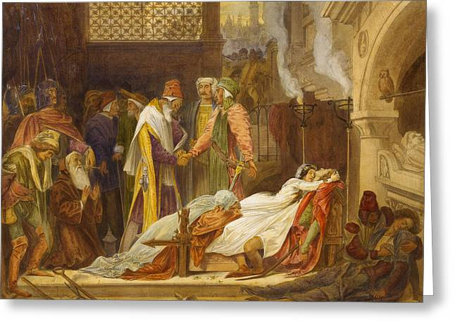 The Reconciliation Of The Montagues And The Capulets Greeting Card