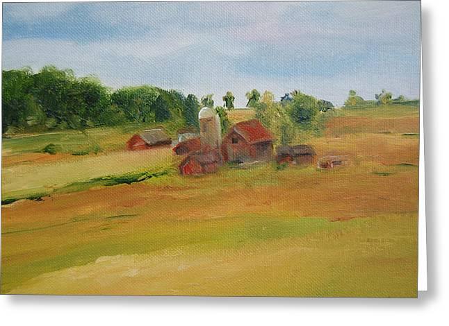 The Red Barn Greeting Card by Lisa Konkol