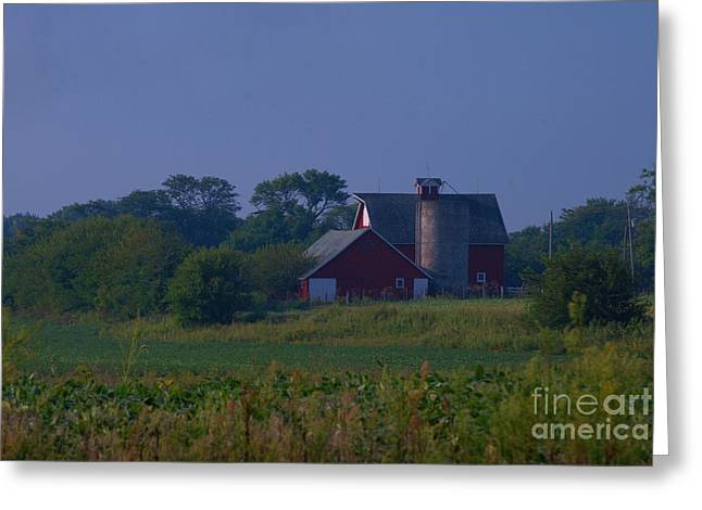 The Red Barn Greeting Card by Michelle Hastings