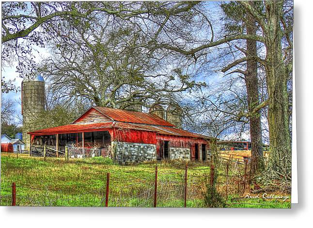 The Red Barn Greeting Card by Reid Callaway