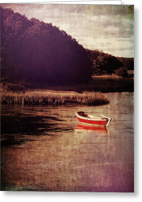 The Red Boat Greeting Card by JAMART Photography