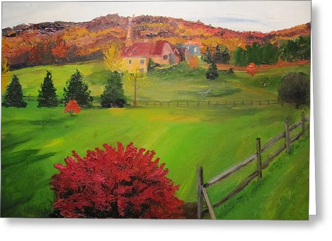The Red Bush Greeting Card by Gloria Condon