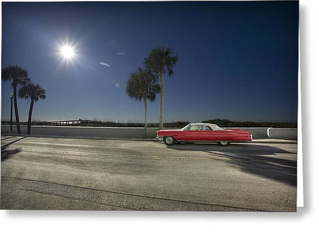 The Red Cadillac Greeting Card