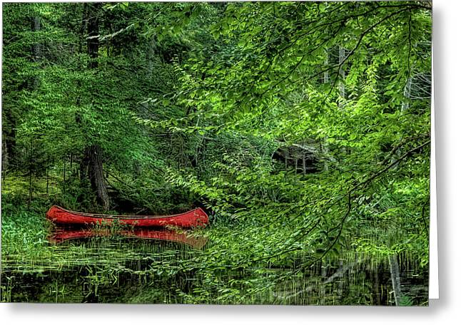 The Red Canoe 2 Greeting Card