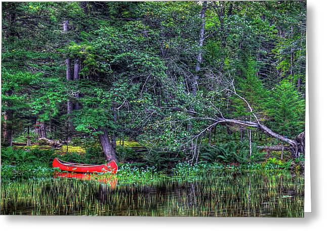 The Red Canoe Greeting Card