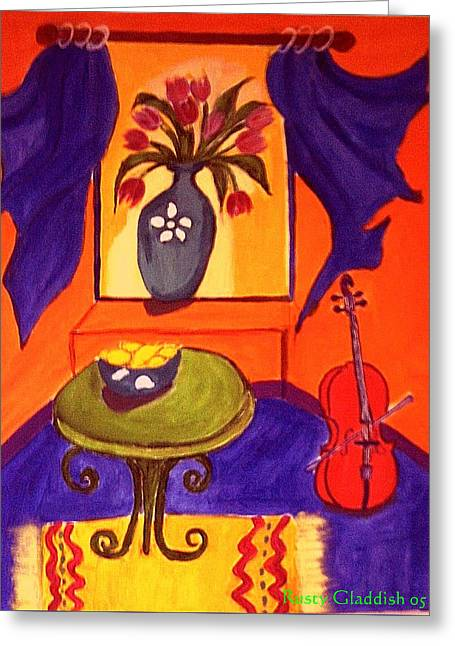 The Red Cello Greeting Card
