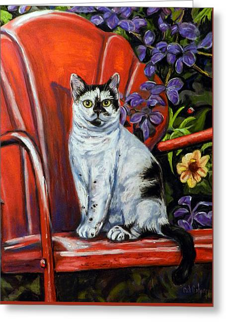 The Red Chair  Greeting Card