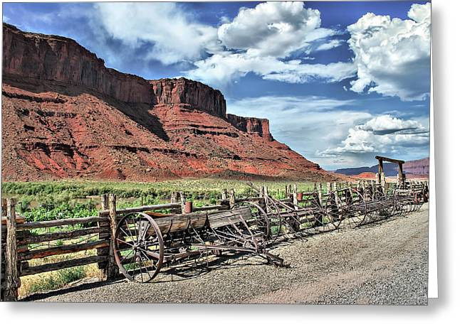 The Red Cliffs Greeting Card