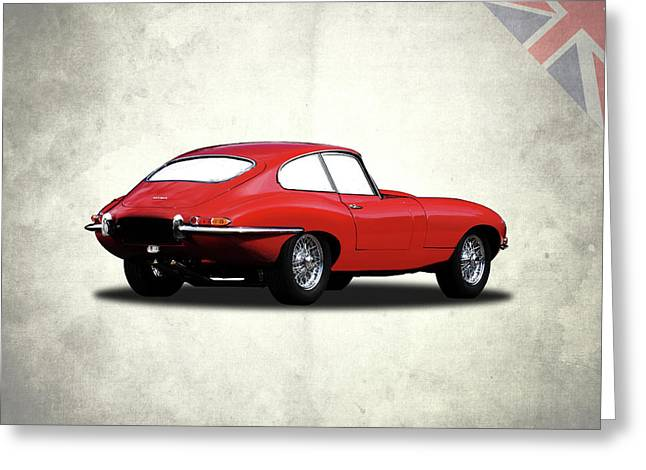 The Red E-type Greeting Card by Mark Rogan
