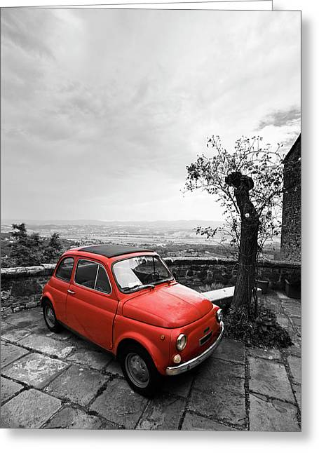 The Red Fiat Greeting Card