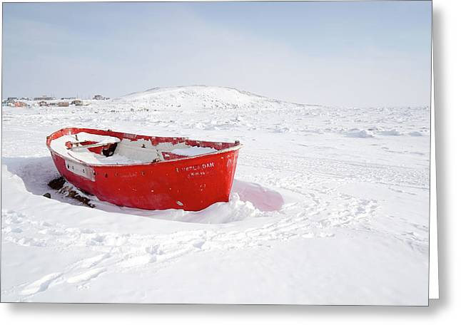 The Red Fishing Boat Greeting Card