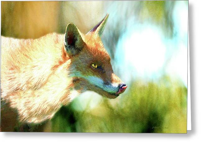 The Red Fox 660-painted Greeting Card by Ericamaxine Price