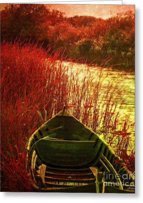 The Red Grass Of Autumn Greeting Card