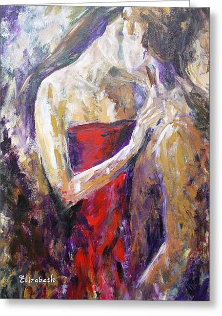 The Red Kiss Greeting Card by Beth Maddox