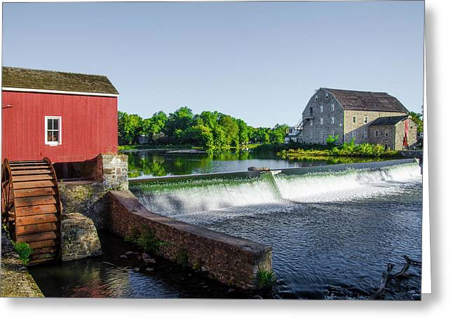 The Red Mill  On The Raritan River - Clinton New Jersey  Greeting Card by Bill Cannon