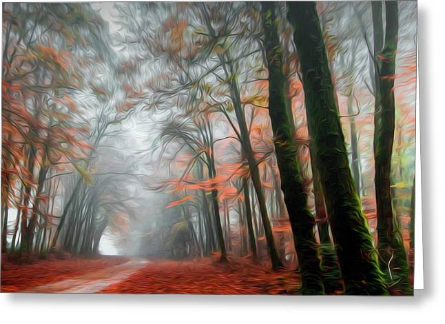 The Red Path Greeting Card