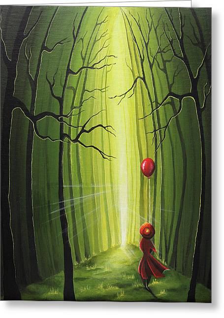 Into The Light Greeting Card by Nirdesha Munasinghe