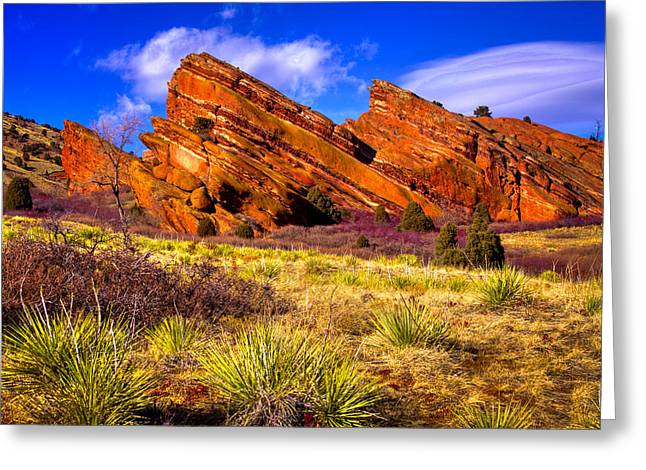 The Red Rock Park Vi Greeting Card