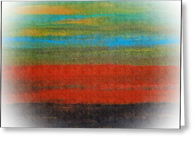 The Red Stripe -or- Meditation Number 28 Greeting Card by Scott Haley