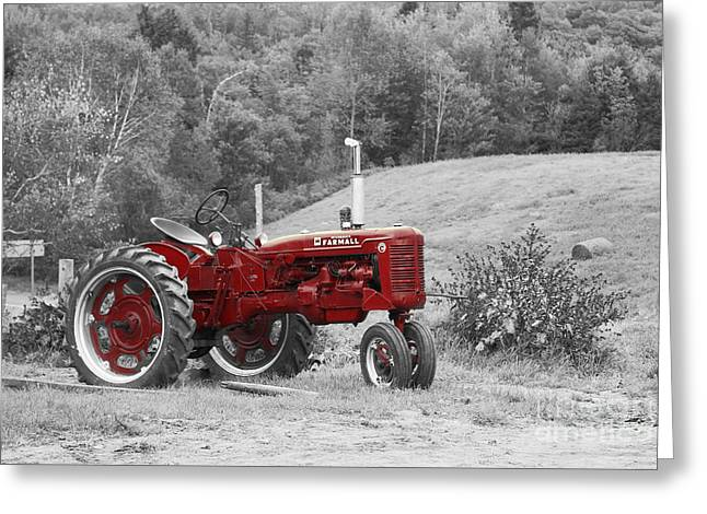 The Red Tractor Greeting Card