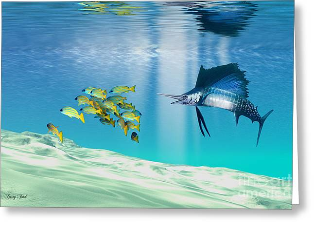The Reef Greeting Card by Corey Ford