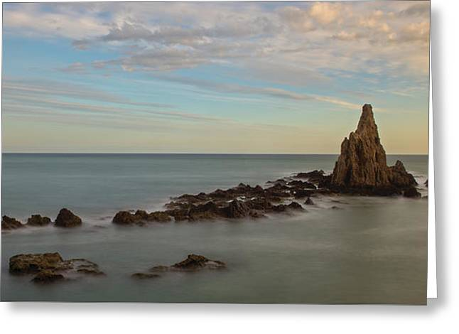 The Reef Of The Cape Sirens At Sunset Greeting Card