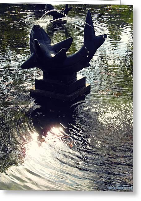 The Reflecting Pool Greeting Card by Garth Glazier
