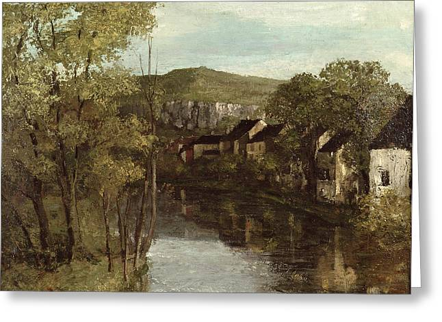 Reflected On The River Greeting Cards - The Reflection of Ornans Greeting Card by Gustave Courbet