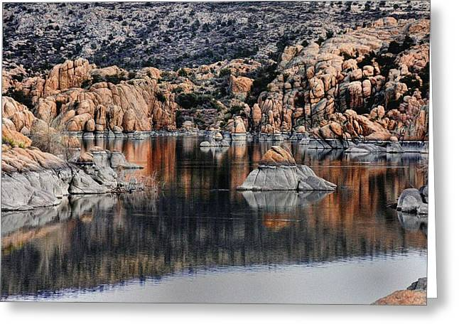 The Reflections Of Beauty  Greeting Card