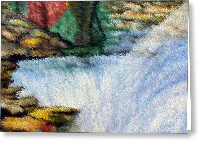 The Refreshing Se3 Greeting Card by Brenda L Spencer