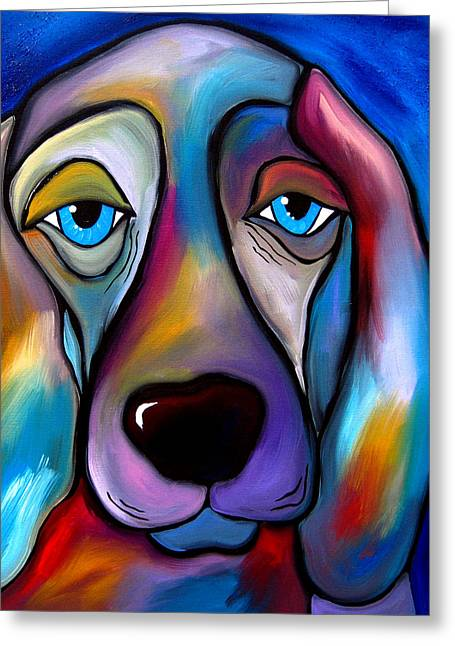 Picasso Mixed Media Greeting Cards - The Regal Beagle - Dog Pop Art by Fidostudio Greeting Card by Tom Fedro - Fidostudio