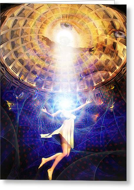 The Release Of Religious Dogma Greeting Card by Robby Donaghey