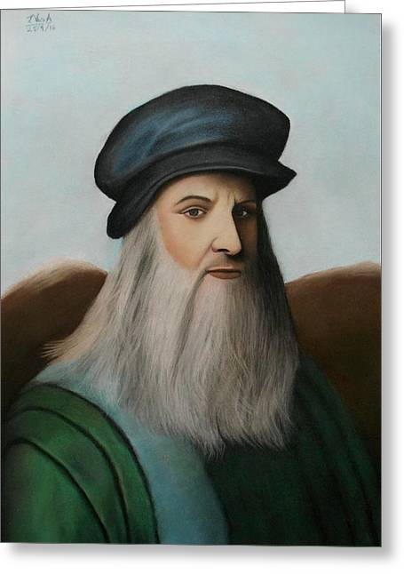 The Master Of Renaissance - Leonardo Da Vinci  Greeting Card