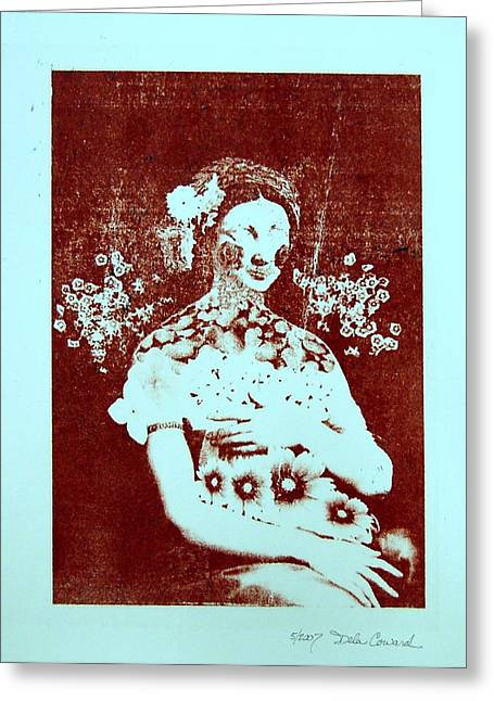 The Renaissance Woman Greeting Card by DeLa Hayes Coward