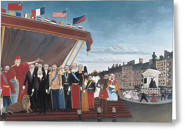 The Representatives Of Foreign Powers Coming To Greet The Republic  Greeting Card by Henri Rousseau