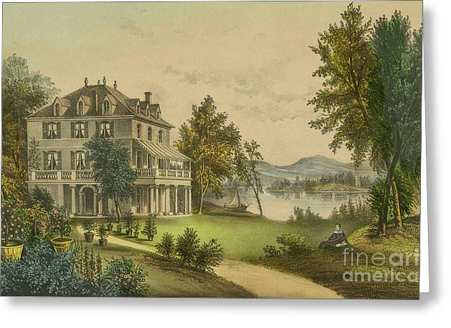 The Residence Of Lord Byron Greeting Card