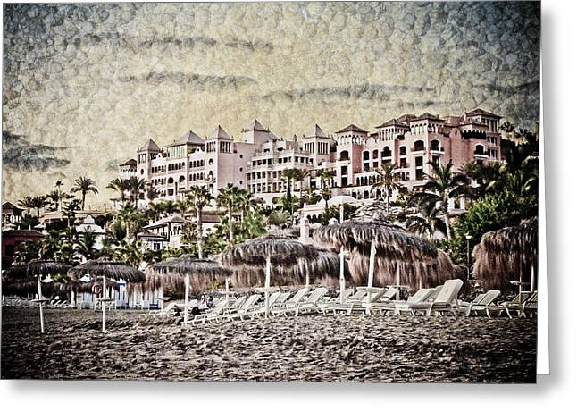 The Resort Beach Greeting Card by Loriental Photography