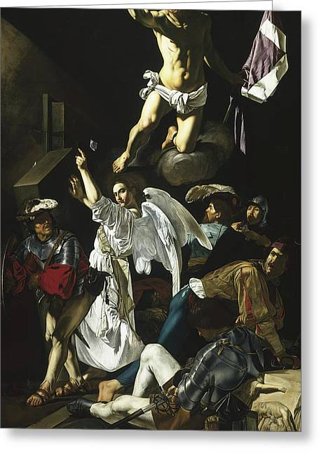 The Resurrection Greeting Card by Cecco de Caravaggio