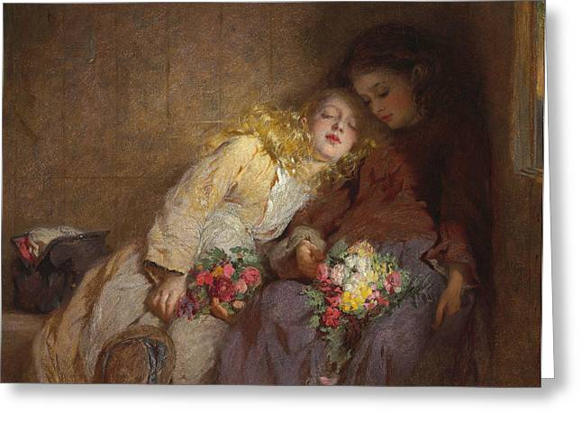 The Return Home Greeting Card by George Elgar Hicks