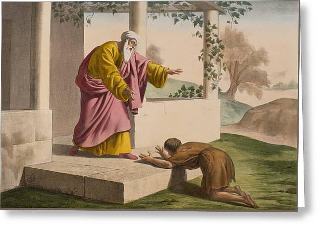 The Return Of The Prodigal Son Greeting Card by French School