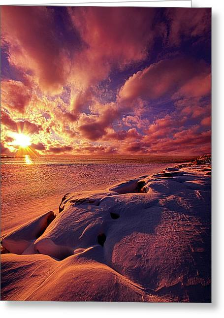 Greeting Card featuring the photograph The Return by Phil Koch