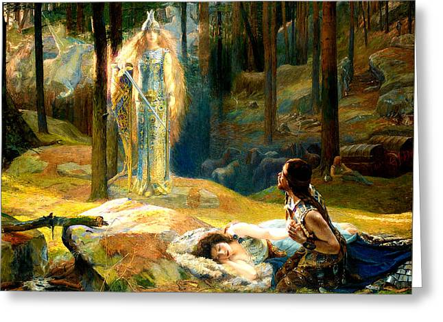 The Revelation Greeting Card by Gaston Bussiere