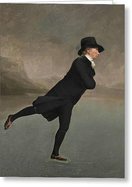 The Reverend Robert Walker Skating On Duddingston Loch Greeting Card