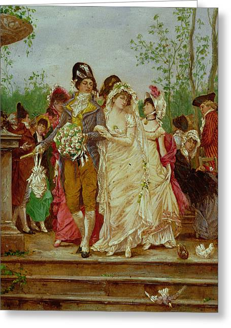 The Revolutionist's Bride, Paris, 1799 Greeting Card