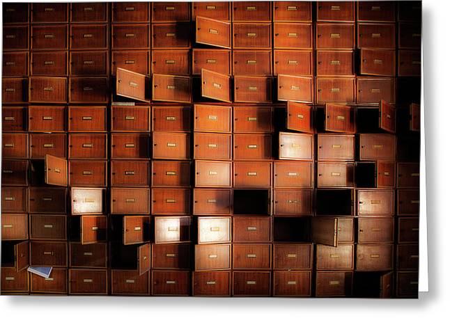 The Rhythm Of Bureaucracy - Urbex Photography Greeting Card